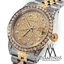 Mid-Size Ladies Rolex 78273 Datejust 2 Tone 31mm Jubilee Diamond Dial & Bezel