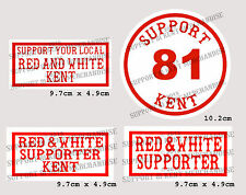 SUPPORT 81 KENT HELLS ANGELS ENGLAND Large Glossy Stickers BIG RED MACHINE WORLD