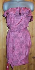 NWT AMANDA UPRICHARDS sun tank DRESS TUNIC LG SEXY beach SILK REPTILE TUBE TOP