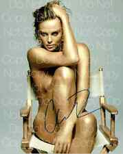 Charlize Theron signed sexy hot Queen 8X10 photo picture poster autograph RP