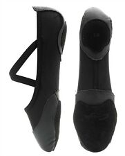 Black Capezio Breeze split sole lycrical ballet shoes - size UK 3