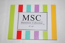 MSC Mainstreet Collection STRIPED Photo Frame Holds 4x6 picture OUTER 6.5x8.5