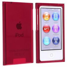 Coque rigide étui housse protection rouge cristal pour ipod nano 7G 7 G + Film