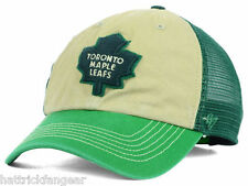 47 BRAND NHL MCNALLY ST. PATRICKS ADJUSTABLE HOCKEY HAT/CAP -TORONTO MAPLE LEAFS