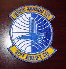 USAF FLIGHT SUIT PATCH,30TH AIRLIFT SQUADRON, WITH VELCR