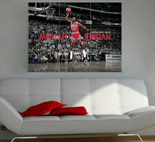 Michael jordan géant section wall art poster 260gsm