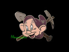 Snow White JEWEL & GOLD MINER Dwarf DOPEY with Shovel and Pick Axe Disney Pin