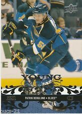 2008-09 Upper Deck Young Guns Patrik Berglund St Louis Blues #242  Hockey Card
