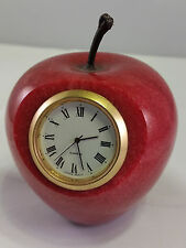 Marble Stone Red Apple Clock or Photo Frame Vintage 1 of 2 Available in My Store
