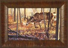 HOT ON THE TRAIL by Cynthie Fisher Deer Buck Whitetail 11x15 FRAMED PICTURE ART