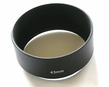 METAL SCREW IN LENS HOOD 43MM LENS SHADE 20MM DEEP