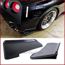 For 08-11 Nissan GT-R R35 CBA J Type Carbon Fiber Rear Bumper Splitter 2 Lip Set