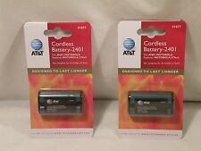 TWO Genuine AT&T 2401 Ni-MH Cordless Phone Rechargeable Battery 2.4V,1300mAh NEW