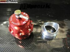 EPMAN UNIVERSAL RED 50mm BLOW OFF VALVE WELD ON ADAPTER BOV TURBO JDM
