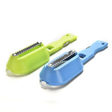 Kitchen Steel Brush Shaver Remover Skinner Scaler Fish Scales knife Descaler FT