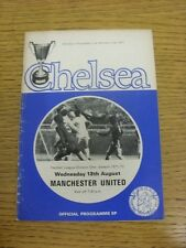 18/08/1971 Chelsea v Manchester United  (Creased, Worn, Team Changes). Condition