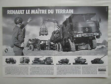 9/1986 PUB RENAULT TRM 2000 4000 10000 CAMION MILITAIRE MILITARY TRUCK FRENCH AD