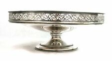 Vintage Silver Plated Cake Stand Fruit Bowl Tazza Foliate Ornament Galleried
