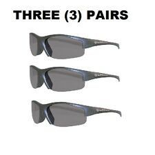 (3) PAIRS Jackson™ Smith & Wesson® Equalizer® Safety Glasses SMOKE LENS AF 21297