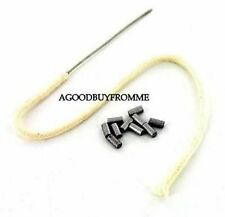 EASY FEED WIRE END WICK + 10 FLINTS FOR MOST PETROL LIGHTERS IMCO RONSON