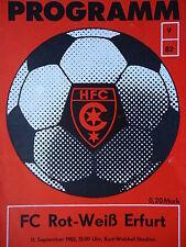 Programm 1982/83 HFC Chemie - RW Erfurt