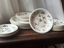 Lot of Wedgwood Wild Strawberry Pre Owned Estate -SET 19- Plates Bowls Salad