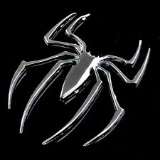 3D Universal Car Truck Auto Spider Chrome Badge Sticker Logo Emblem Marker Decal
