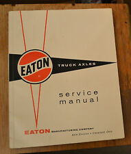 VTG 1960 Eaton Truck Axles Service Manual EX/NM N