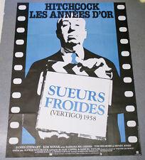 Affiche de cinéma : SUEURS FROIDES de Alfred HITCHCOK