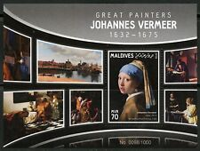 MALDIVES 2016 GREAT PAINTERS JOHNANES VERMEER  SOUVENIR SHEET  MINT NH