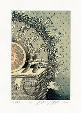 Mystic, Medical, Surrealistic Ex libris Etching by Juri Jakovenko, Belarus