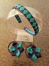 Madelienas  Girls School Hair Accessories Set. Headband &  Hair Ties