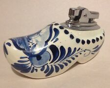 Delfts Table Clog Lighter Holland Hand Painted Windmill Porcelain Shoe Delftware