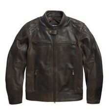 Harley Davidson 97055-15vm #1 Skull Buffalo Leather Vintaged Jacket Black Label