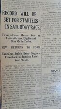 MAY 17, 1923 NEWSPAPER PAGE #J5380- ZEV KENTUCKY DERBY + RARE BABE RUTH AD
