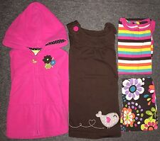 LOT 4pc Carter's Outfit Hooded Jacket Dress Bodysuit Leggings 9m 12m Girls