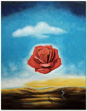 Meditative Rose - Salvador Dali Surrealism Hand Painted Landscape Oil Painting