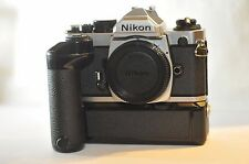 Nikon FM2N FM2 N FILM ANALOG SLR camera E2 GRID screen & MD-12 Motor Drive