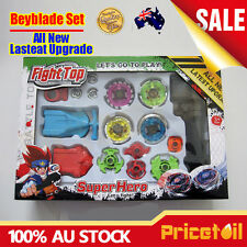 Set OZ New 4D Fusion Top Metal Master Rapidity Fight Rare Beyblade Launcher Grip