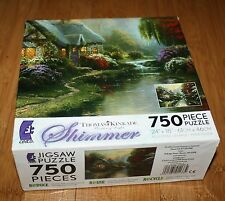 """Thomas Kinkade : A Quiet Evening - 750 pc Ceaco Shimmer puzzle 24"""" X 18"""" - New"""