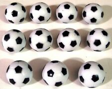 11 x BLACK & WHITE 35 mm FOOTBALL / FOOSBALL  BALLS FOR TABLE FOOTBALL