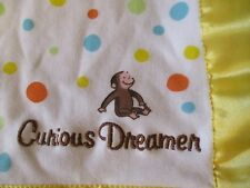 """Curious George Dreamer Security Blanket Lovey + 12"""" plush Curious George"""