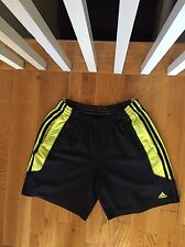 "Adidas 7"" Running Athletic Shorts, Men's Size Small - Black/Yellow"