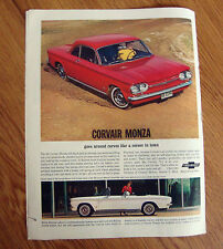 1963 Chevrolet Corvair Monza Clup Coupe & Convertible Ad Betty Skelton