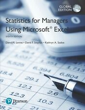 Statistics for Managers Using Microsoft Excel (8th Edition) by David M. Levine,
