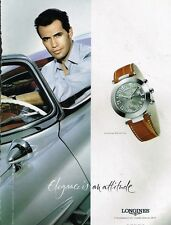 Publicité advertising 2002 La Montre Longines Dolce Vita avec Billy Zane