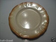 Vintage Retro Ironstone Sunrise Large Chop Platter Plate Serving Dish Tan Gold