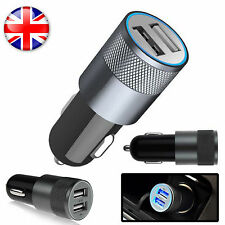 2 IN 1  UNIVERSAL LED USB 12-24V DUAL CAR CHARGER CIGARETTE SOCKET LIGHTER BLACK