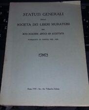 statuti generali della societa' liberi muratori-rito scozzese-pubblicati 1820