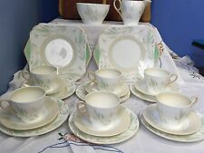 ART DECO VINTAGE SHELLEY PART TEA SET SERVICE PERTTEN NO12458 Rare